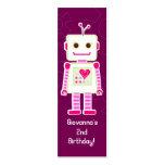 Étiquettes de cadeau de Merci de robot de fille Modèles De Cartes De Visite