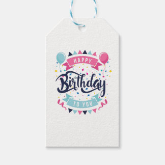 Étiquettes de cadeau de motif de joyeux