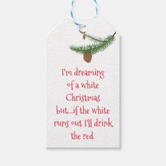 Étiquettes de cadeau de Noël d'enthousiaste de vin
