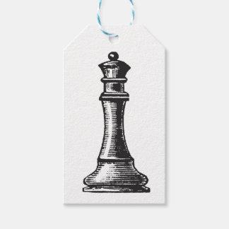 Étiquettes de cadeau de pièce d'échecs