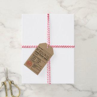 Étiquettes de cadeau de service de distribution de
