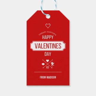 Étiquettes de cadeau de symboles de Valentine de