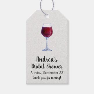 Étiquettes de cadeau de vin ou étiquettes de