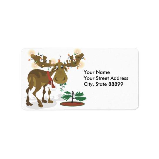 Étiquettes de cadeau d'étiquettes s-adresse