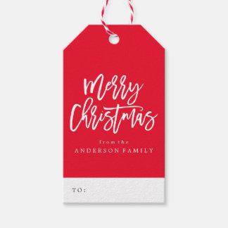 Étiquettes de cadeau du manuscrit | de Joyeux Noël