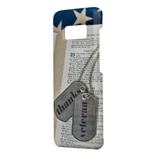 étiquettes de chien militaires sur la bible coque Case-Mate samsung galaxy s8
