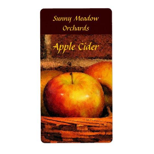 Étiquettes de cidre d'Apple
