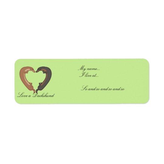Étiquettes de coeur d'amour de couples de chien de