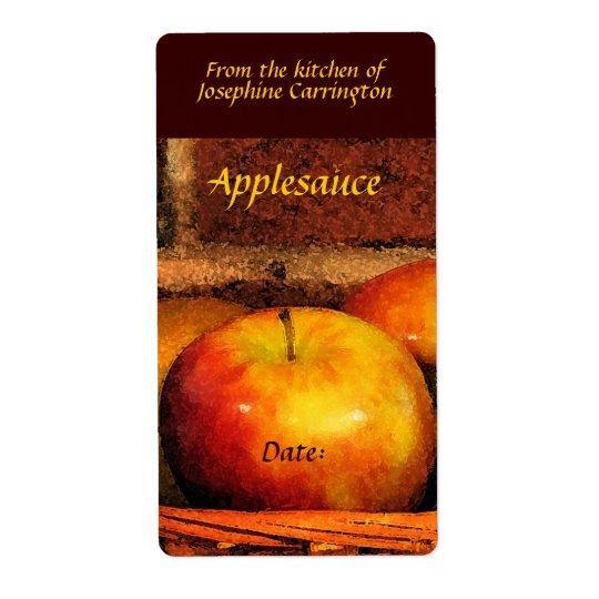Étiquettes de compote de pommes