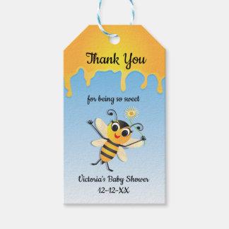 Étiquettes de faveur de baby shower d'abeille