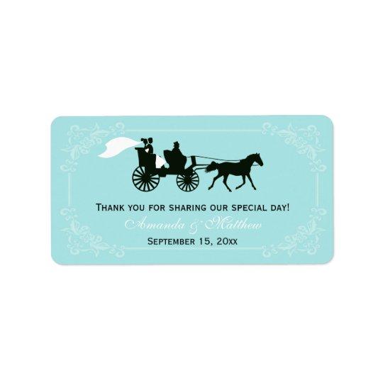 Étiquettes de faveur de mariage de cheval et de