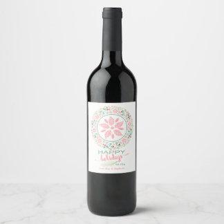 Étiquettes de fête de bouteille de vin de collage