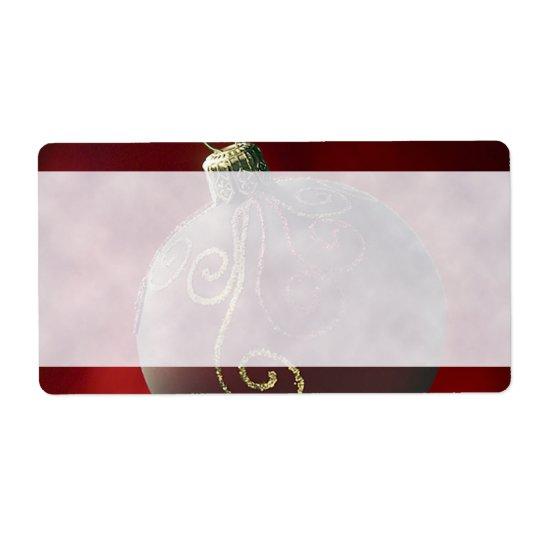 Étiquettes de fête de décoration de Noël de vacanc