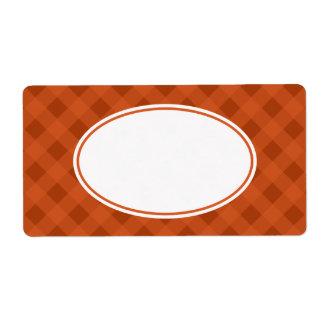 Étiquettes de guingan de cuisine de nourriture
