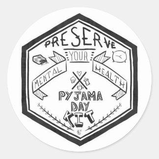 Étiquettes de kit de jour de pyjama