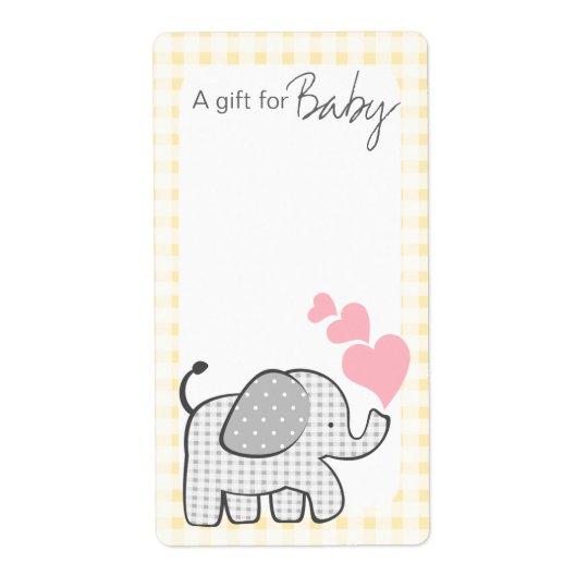 Étiquettes de livre d'éléphant de guingan