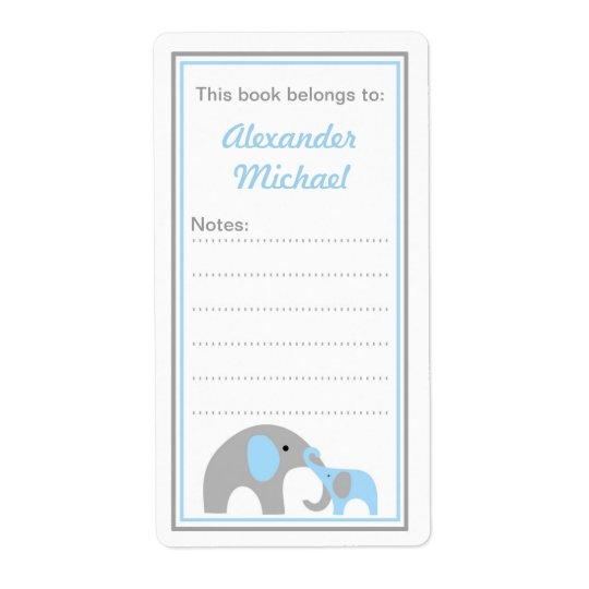 Étiquettes de livre d'ex-libris d'éléphants de mèr