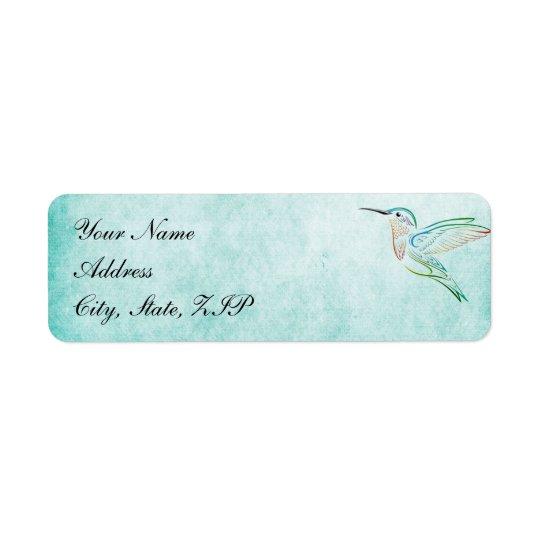 Étiquettes de mariage d'aquarelle de colibri