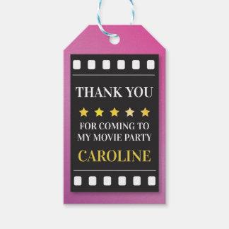 Étiquettes de Merci de film de billet de film de