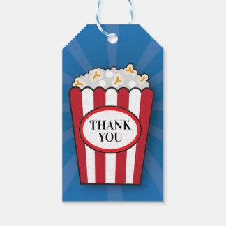 Étiquettes de Merci de film de maïs éclaté de film