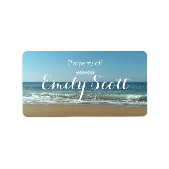 Étiquettes de nom de rivage de plage