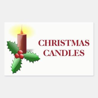 Étiquettes de organisation de Noël - bougies