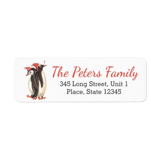Étiquettes de retour d'adresse des pingouins | de
