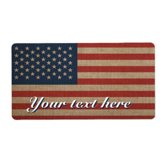 Étiquettes de Shipiping avec le drapeau américain