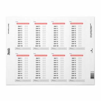 Étiquettes de traqueur de médecine
