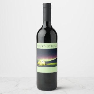 Étiquettes de vin de Borealis de l'aurore
