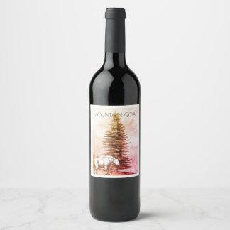 Étiquettes de vin de chèvre de montagne