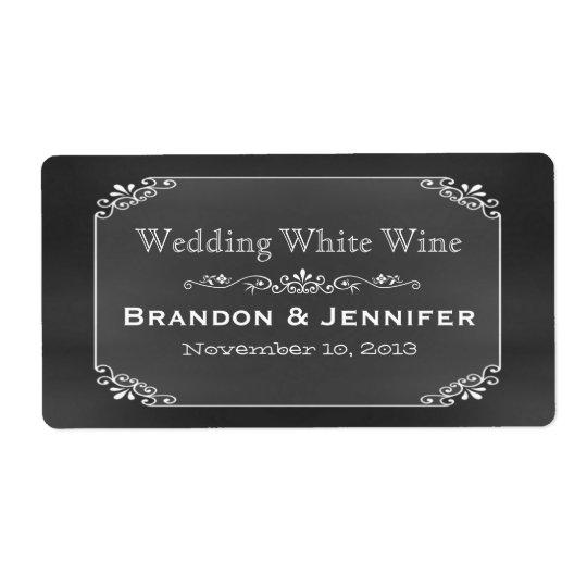 Étiquettes de vin de mariage fait sur commande