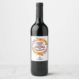 Étiquettes d'entreprise Editable de vin pour Noël