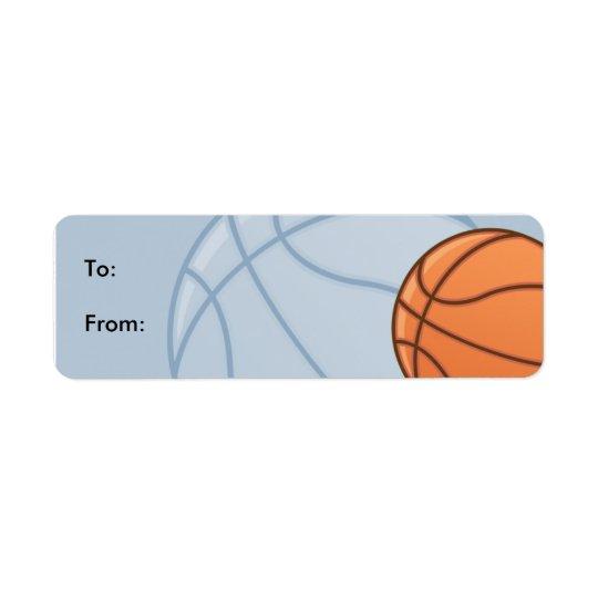 Étiquettes d'étiquette de cadeau de Baseketball
