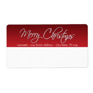 Étiquettes d'expédition de Joyeux Noël