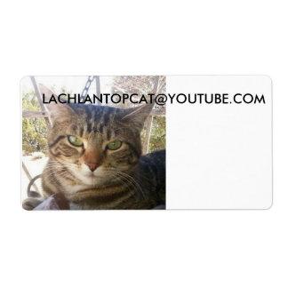 étiquettes d'expédition de lachlantopcat