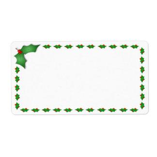 Étiquettes d'expédition de Noël