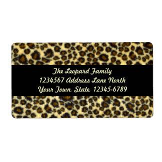 Étiquettes d'expédition d'empreinte de léopard