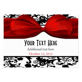 Étiquettes élégantes de cadeau de mariage carte de visite grand format