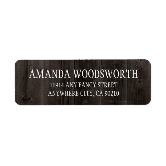 Étiquettes en bois de mariage de grange rustique