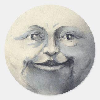 Étiquettes et autocollants bienveillants de lune