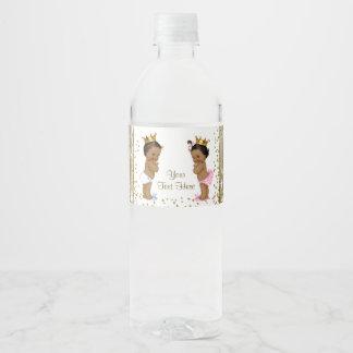 Étiquettes ethniques de bouteille d'eau de baby