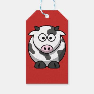 Étiquettes faites sur commande de cadeau de vache