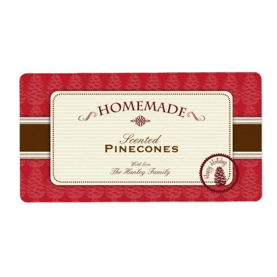 Étiquettes faits maison de Pinecone grands