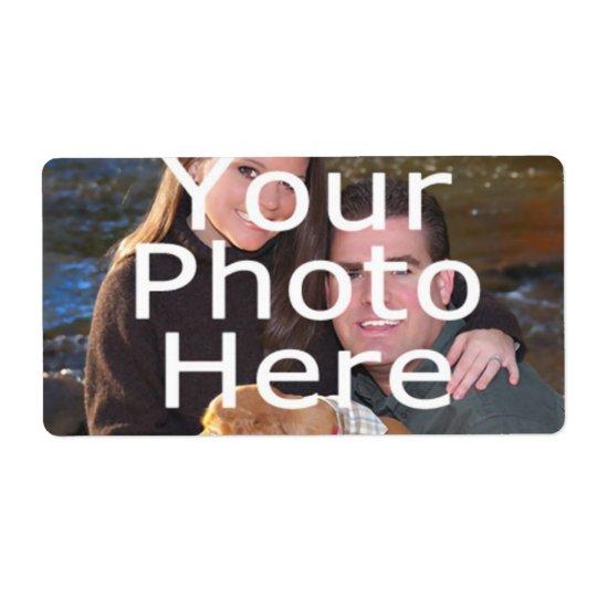 Étiquettes faits sur commande de photo