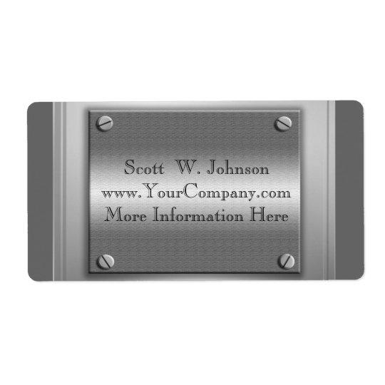Étiquettes faits sur commande de regard en métal d