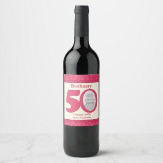 Étiquettes faits sur commande de vin de