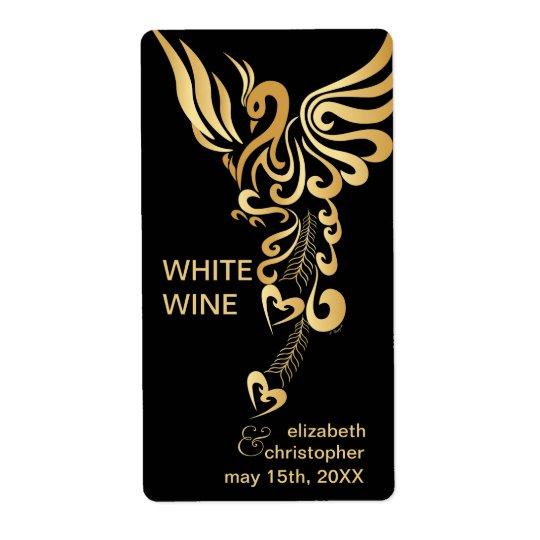 Étiquettes faits sur commande en hausse de vin de