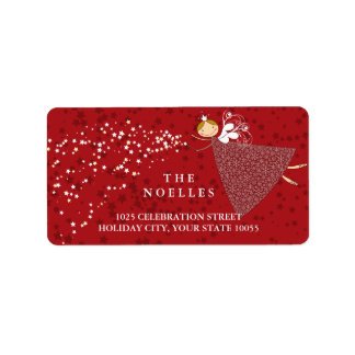 Étiquettes féeriques magiques de vacances de Noël