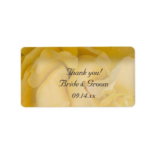 Étiquettes florales de faveur de Merci de mariage